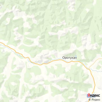 Карта Оротукана