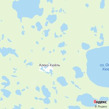 Карта Алеко-Кюеля