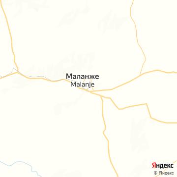 Карта Malange