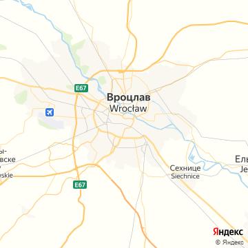 Карта Вроцлава