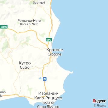 Карта Кротоне