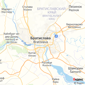 Карта Братиславы