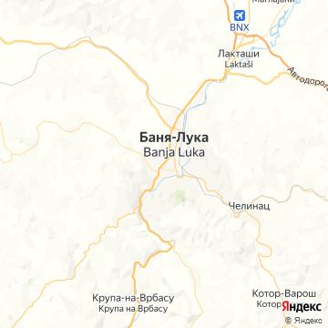 Карта Бани-Луки