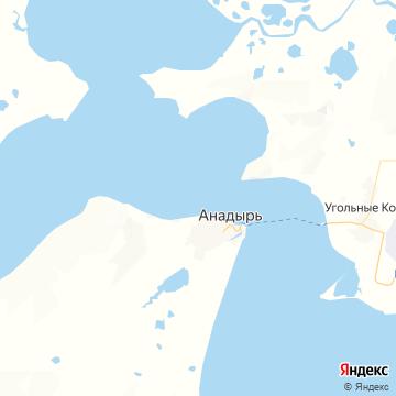 Карта Анадыря