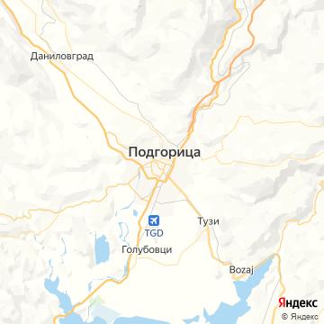 Карта Подгорицы