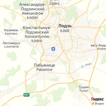 Карта Лодзя