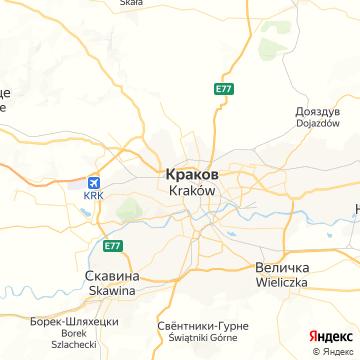 Карта Кракова
