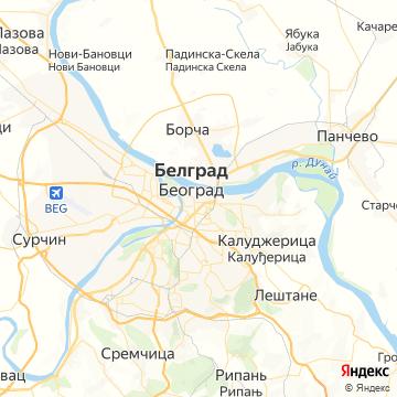 Карта Белграда