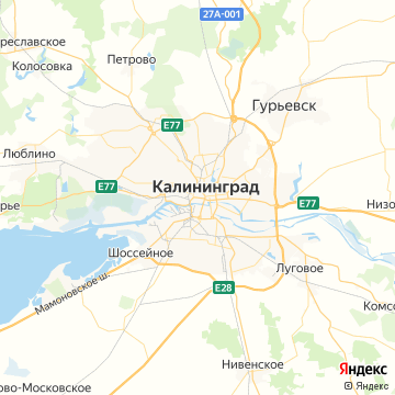 Карта Калининграда