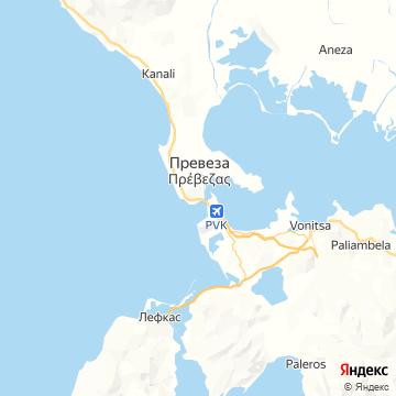 Карта Превезы