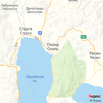 Карта Охрид
