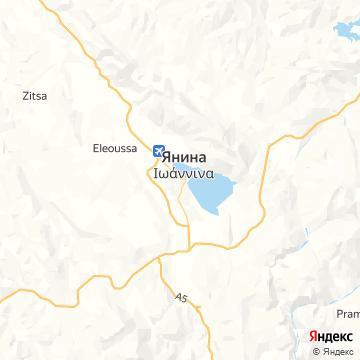 Карта Иоанниной