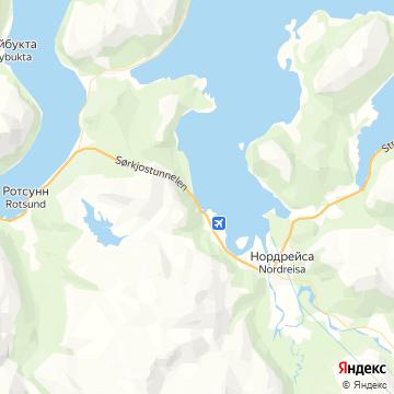 Карта Sorkjosen