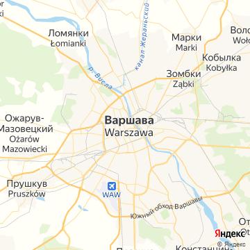 Карта Варшавы