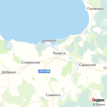 Карта Полесска