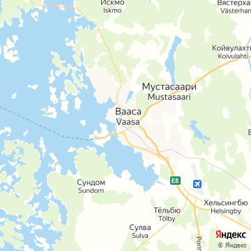 Карта Ваасы