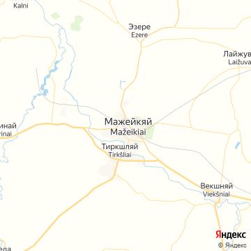 Карта Мажейкяя