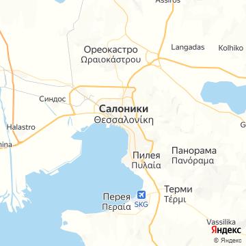Карта Салоник