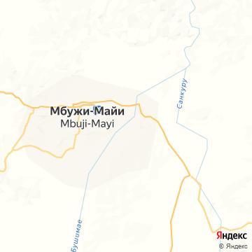 Карта Мбужей Майи