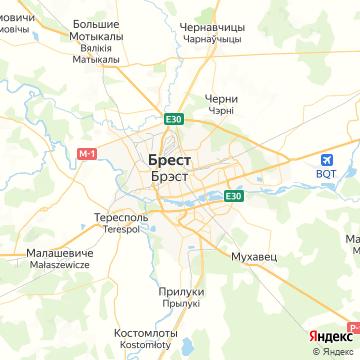 Карта Бреста