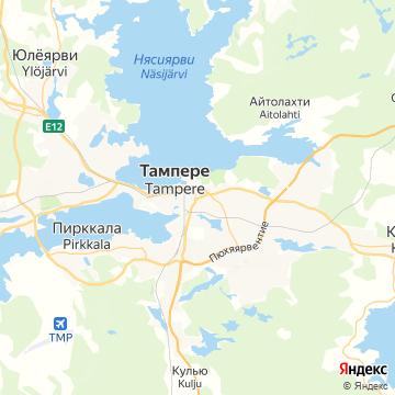 Карта Тампере