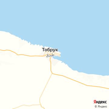 Карта Тобрука