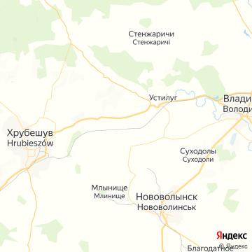 Карта Нововолынска