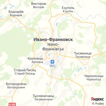 Карта Ивано-Франковска