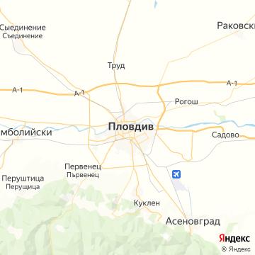 Карта Пловдива