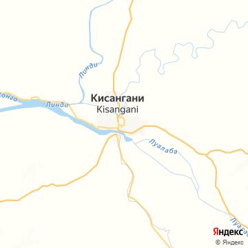Карта Кисангани