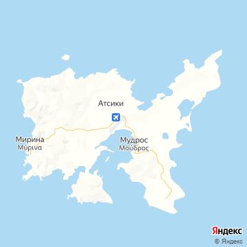 Карта Лимноса