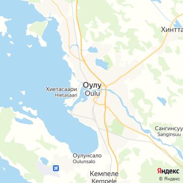 Карта Оулу