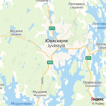Карта Ювяскюли
