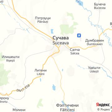Карта Сучавы
