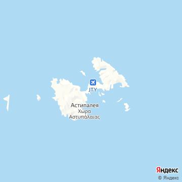 Карта Астипалайя о-в