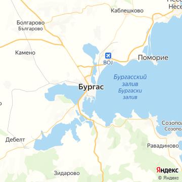 Карта Бургаса