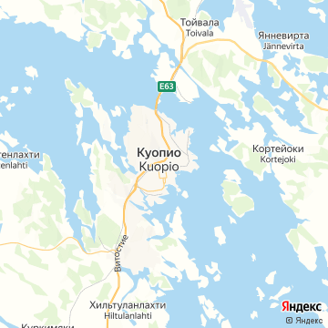 Карта Куопио