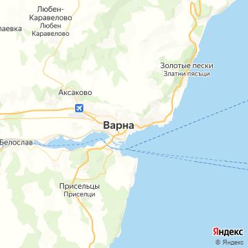 Карта Варны