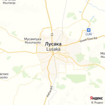 Карта Лусаки