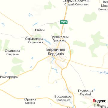 Карта Бердичева