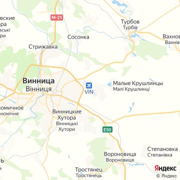 Карта Винницы