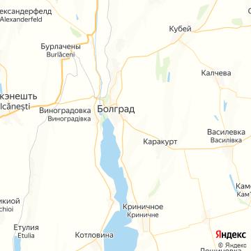 Карта Болграда
