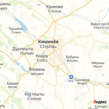 Карта Кишинёва