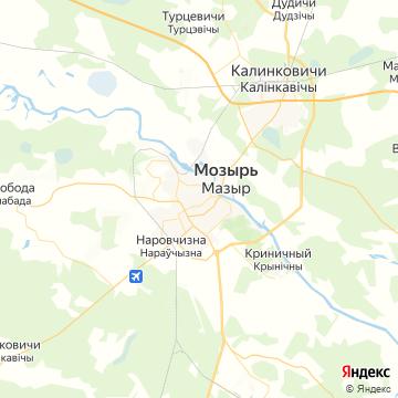 Карта Мозыря