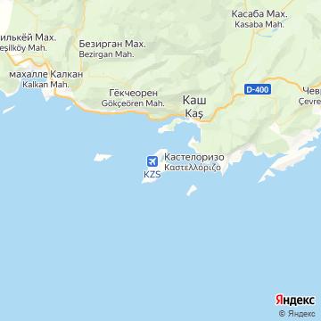 Карта Кастелоризо