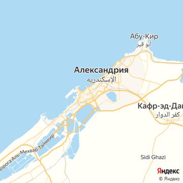 Карта Александрии
