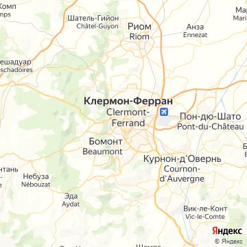 Карта Клермон-Феррана