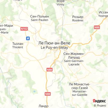 Карта Ле Пуй