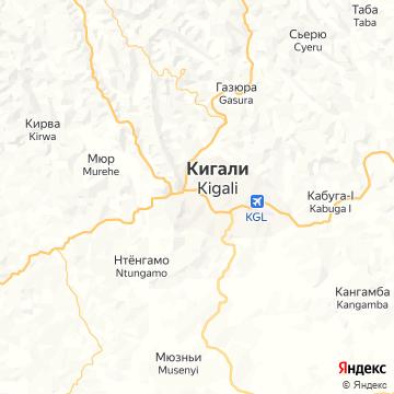 Карта Кигали