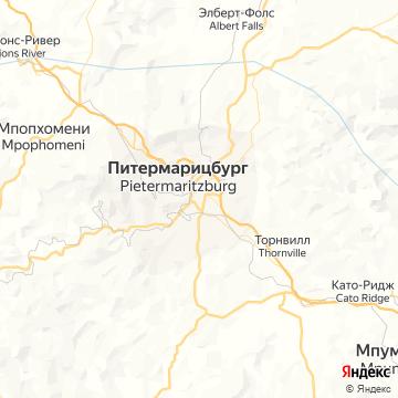 Карта Питермарицбурга